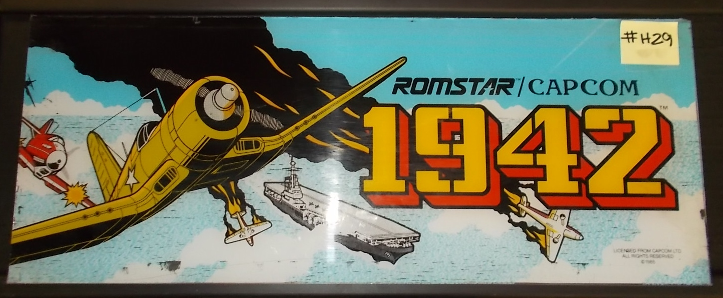 1942 Arcade Cabinet 1942 Arcade Machine Game Overhead Header For Sale By Romstar