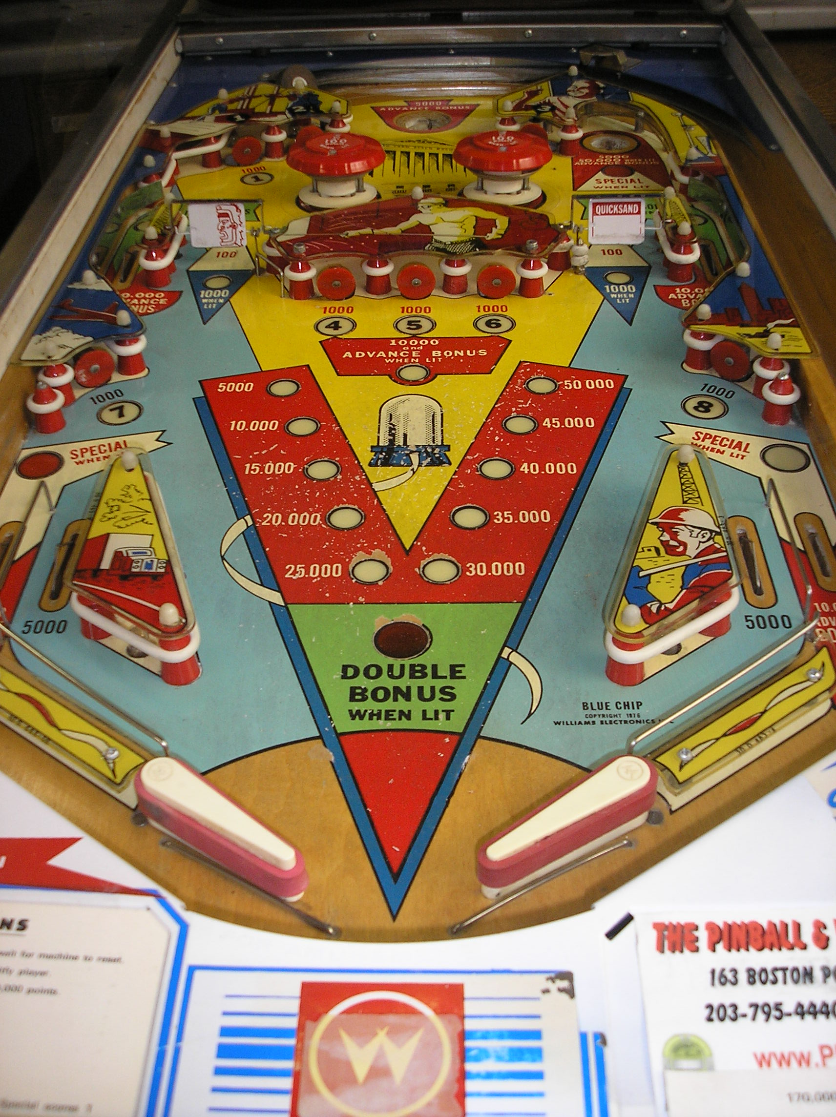 BLUE CHIP Pinball Machine Game for sale by Williams A GILT EDGED