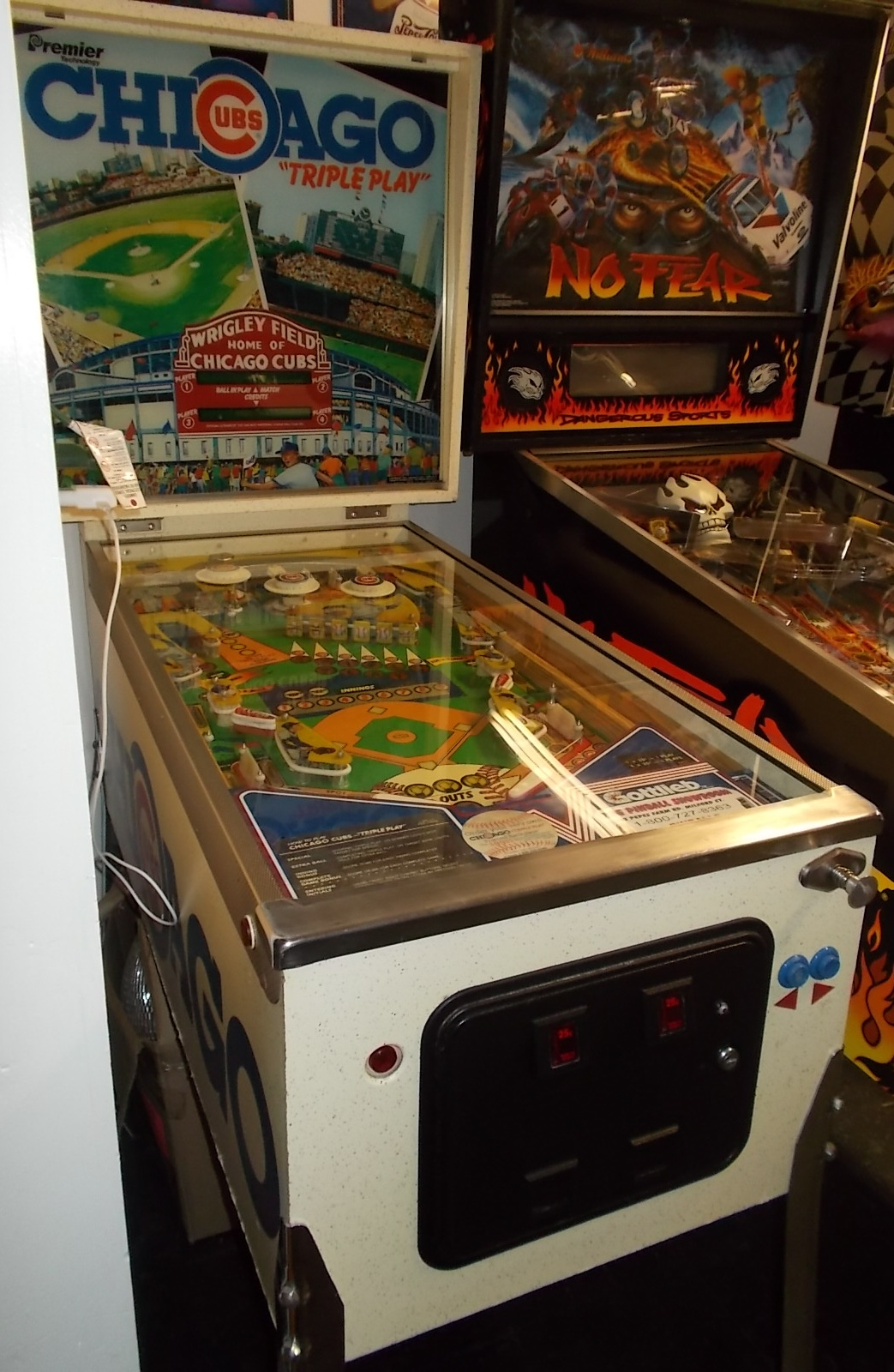 "CHICAGO CUBS ""TRIPLE PLAY"" Pinball Machine Game by PREMIER ..."