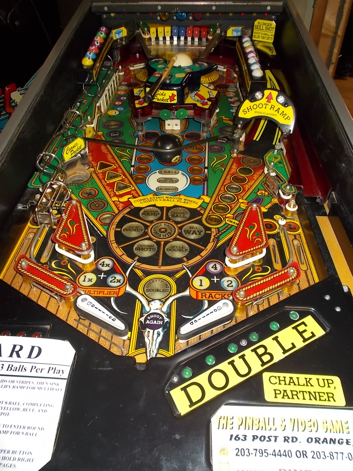 Cue Ball Wizard Pinball Game Perfect For Pool Fans