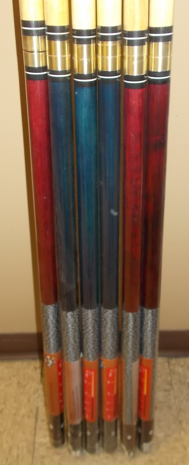 Crest Two Piece 57 Quot Pool Cue Stick For Sale 191 Lot Of