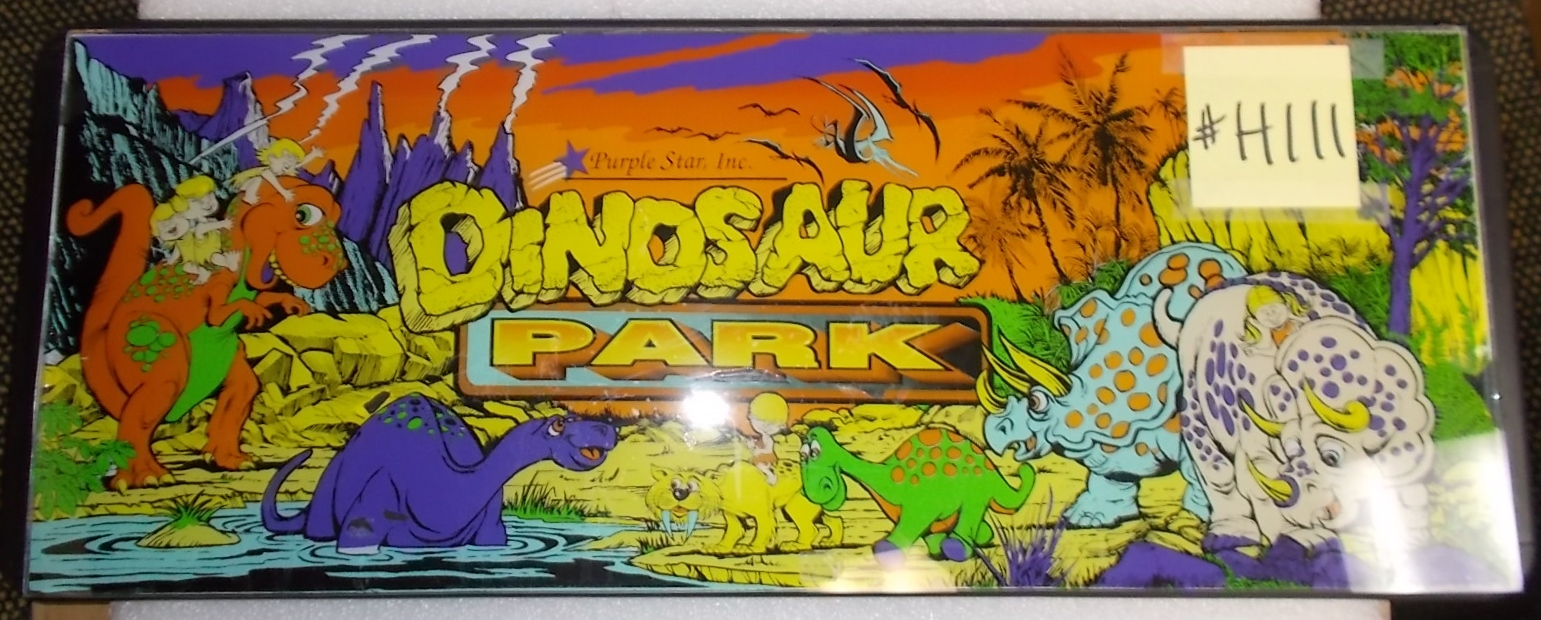DINOSAUR Arcade Machine Game GLASS Overhead Header Marquee #H111 for ...