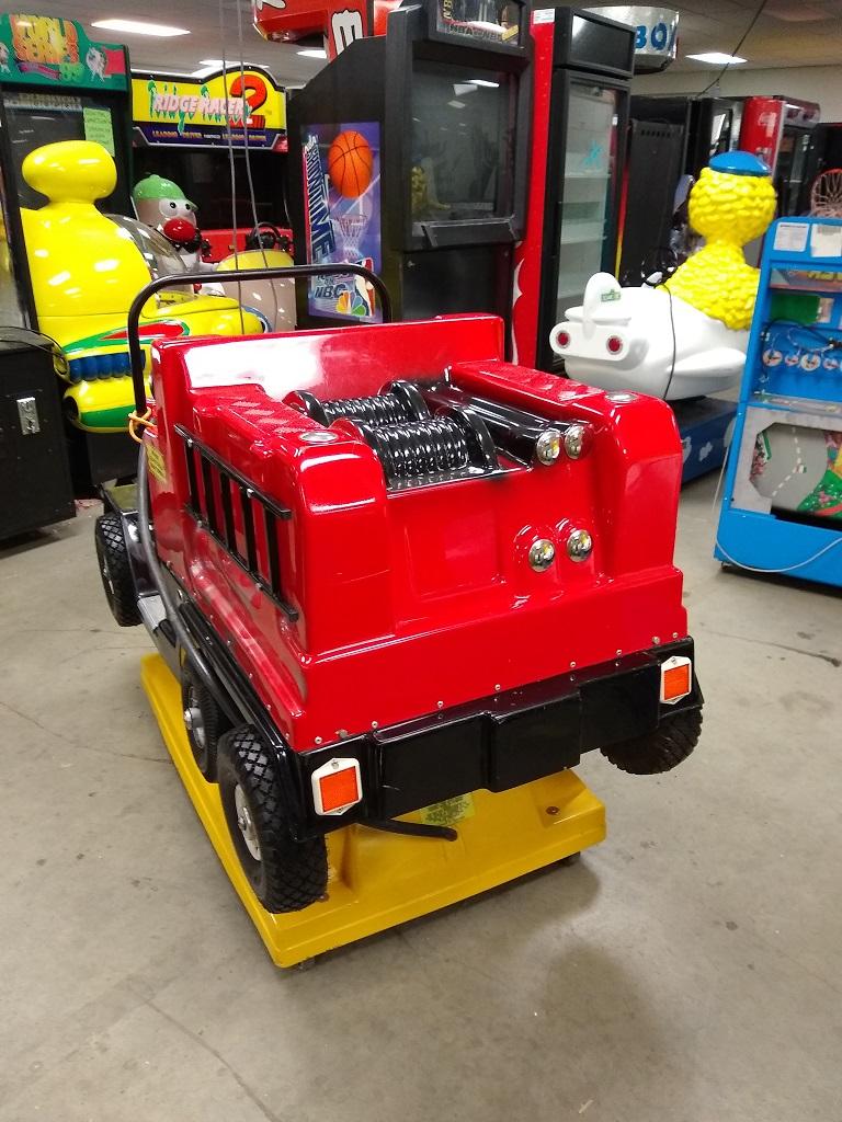Big Bird Fire Truck Kiddie Ride For Sale