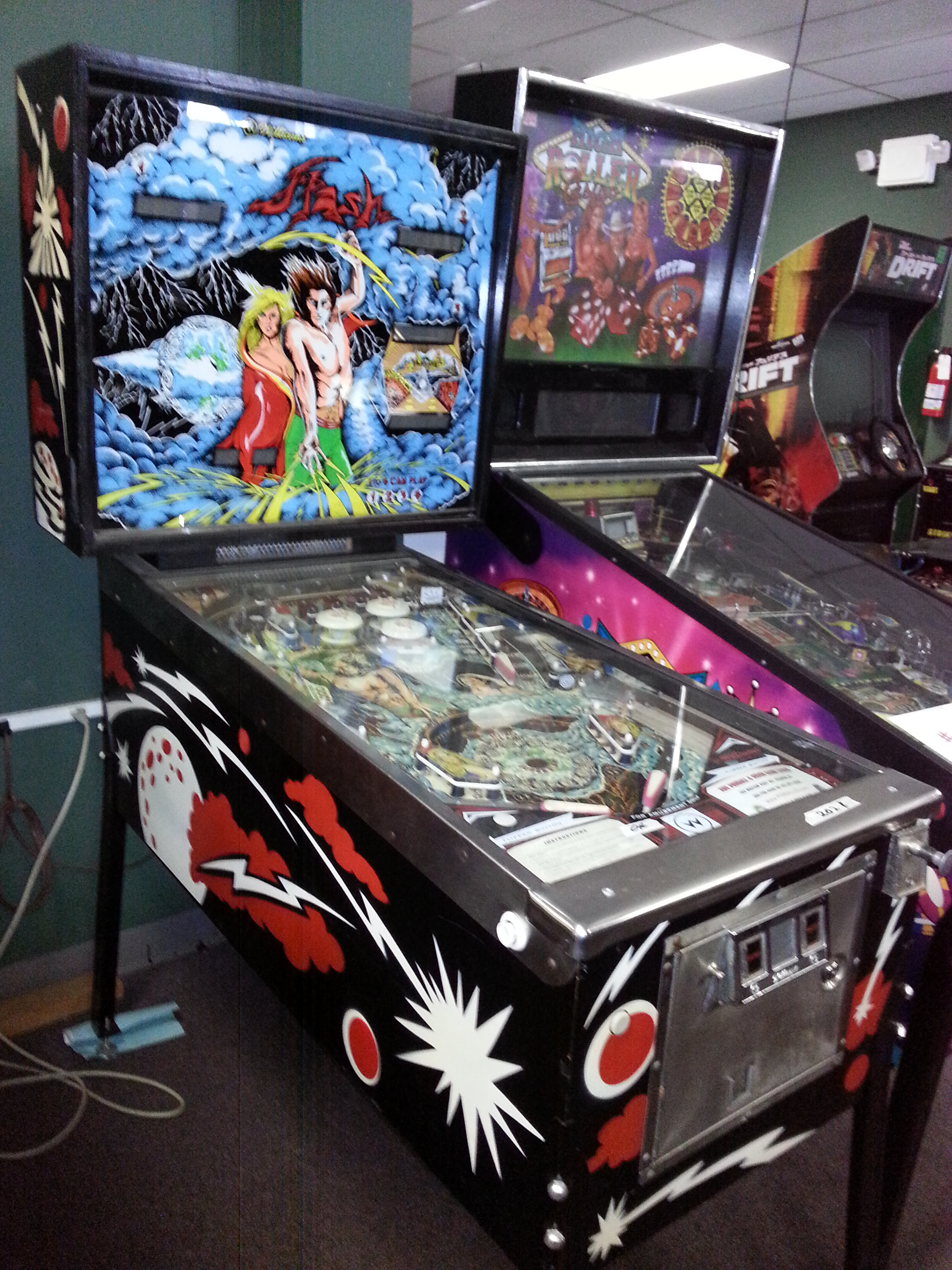 FLASH Pinball Machine Game for sale by WILLIAMS FLASH LAMPS