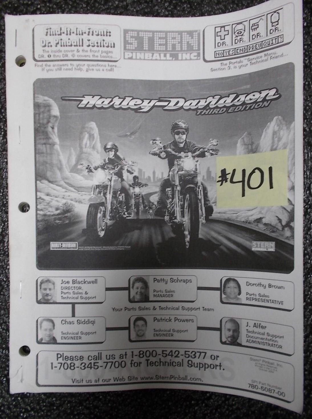 Harley Davidson Arcade Game Manual