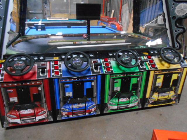 Nascar Showdown 4 Player Interactive Arcade Racing Game By