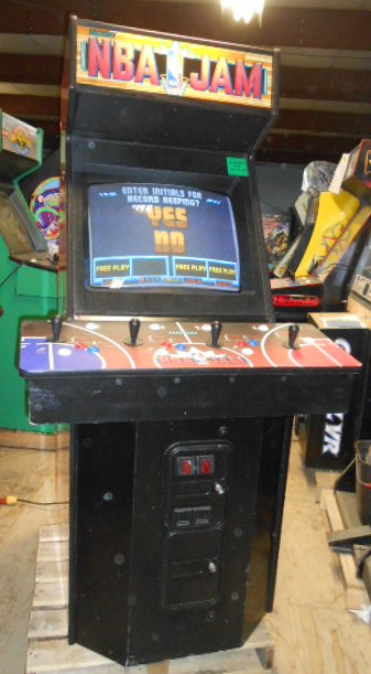 NBA JAM 4-Player Upright Arcade Machine Game for sale - PLAYS ...