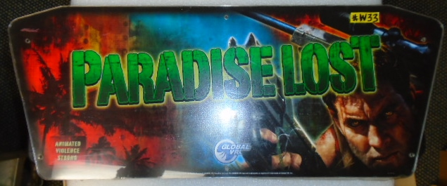 Paradise Lost Arcade Machine Game Overhead Header