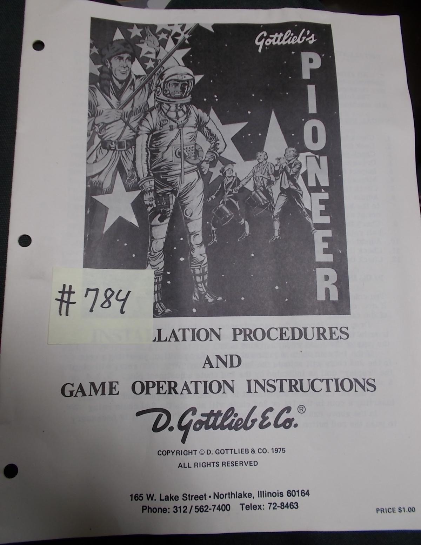 Pioneer Pinball Machine Game Installation Procedures Game