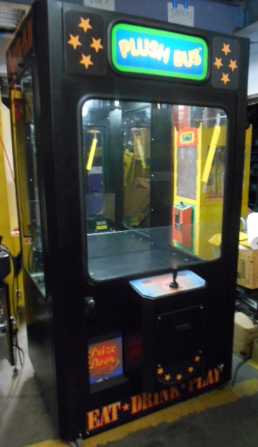 plush bus redemption merchandiser arcade machine game for