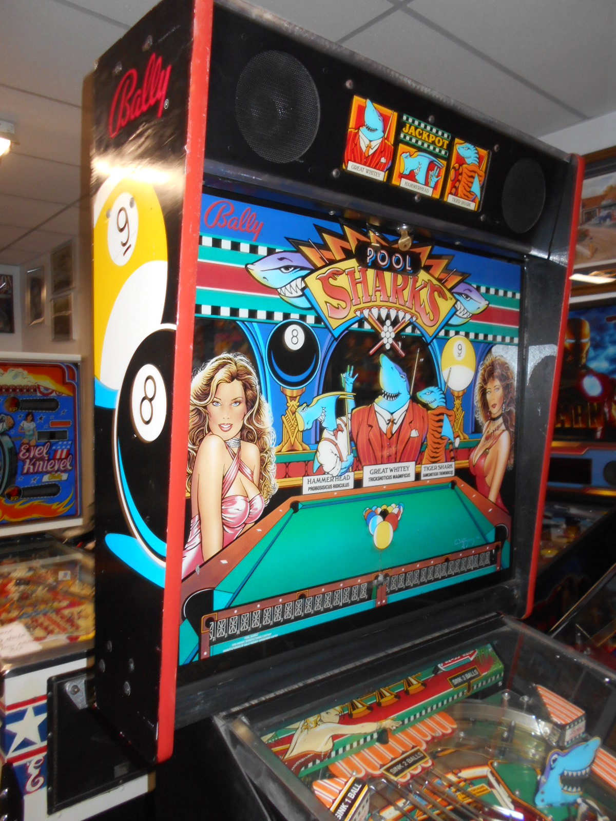 Pool Sharks Pinball Machine Game For Sale By Bally Led