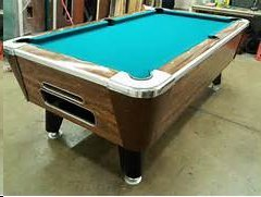 POOL TABLE COIN OPERATED Or HOME USE COMPLETE With NEW FELT - Pool table pick up