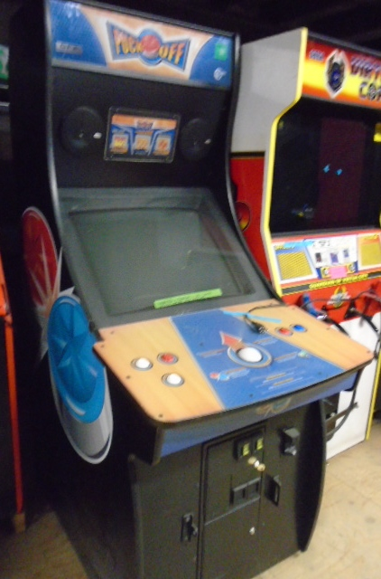 PUCK OFF Upright Arcade Machine Game for sale by GLOBAL VR - VIRTUAL
