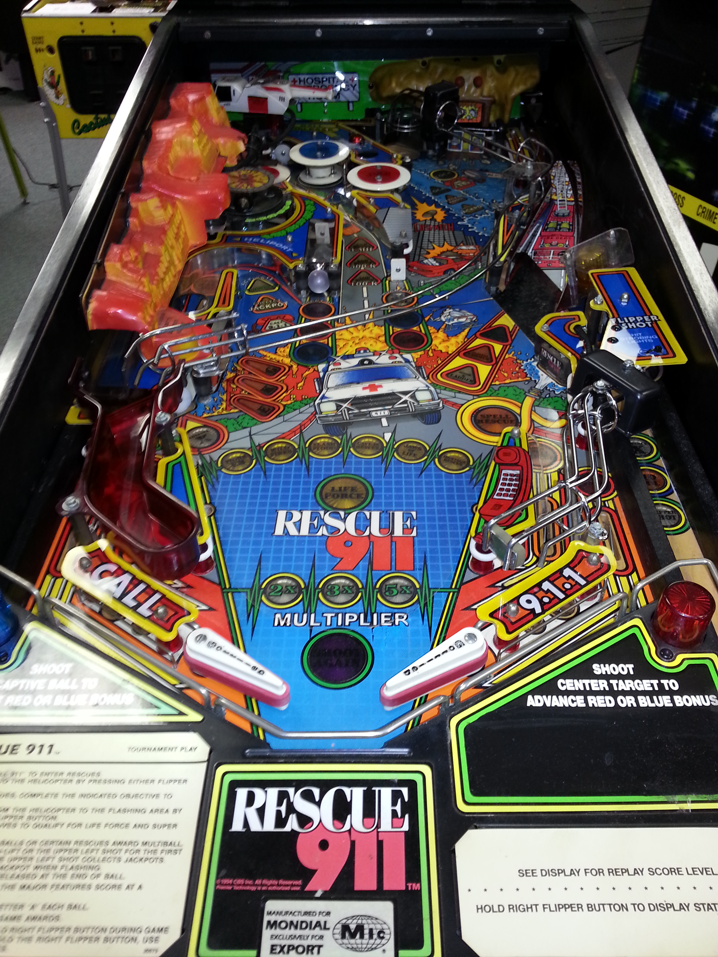 RESCUE 911 Pinball Machine Game for sale by GOTTLIEB THE GAME