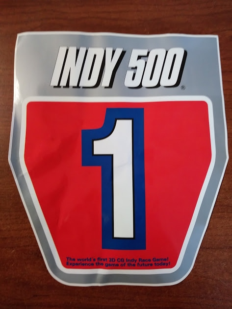Sega Indy 500 Arcade Machine Game Seat Decal Iny 11604b For Sale
