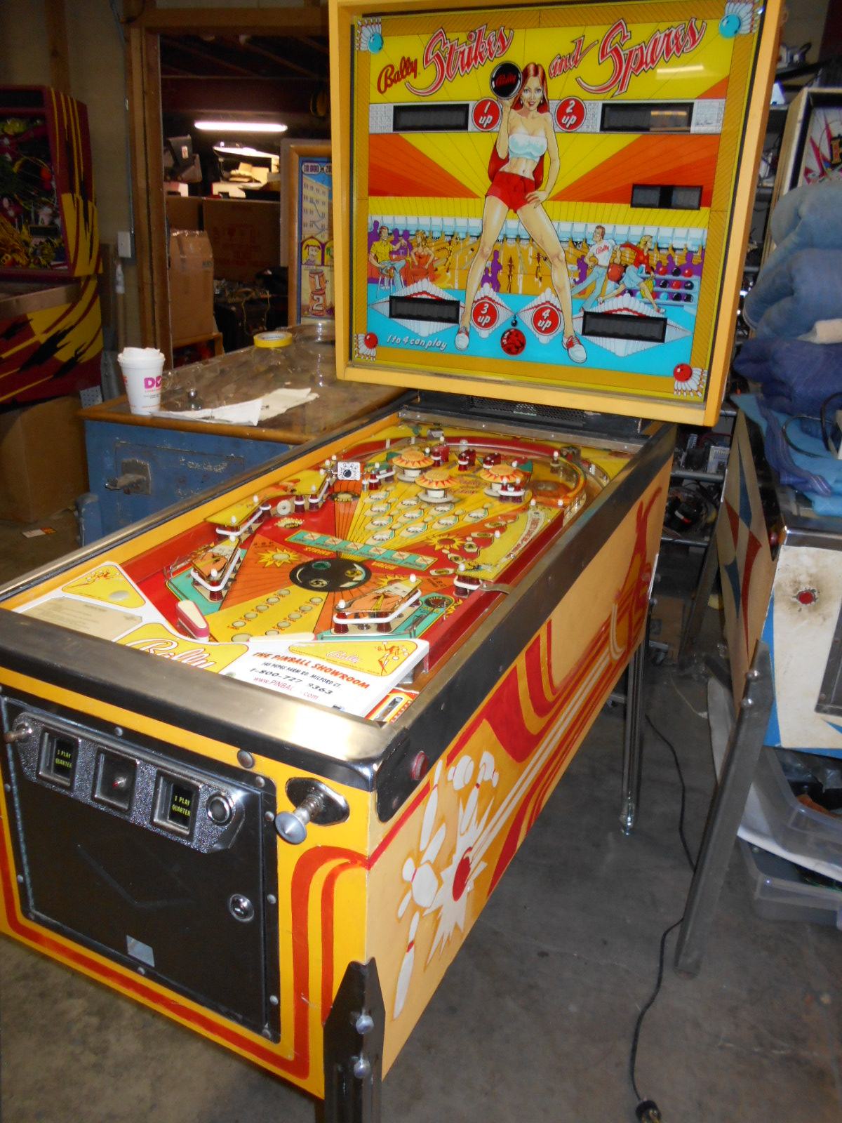 STRIKES AND SPARES Pinball Machine Game for sale by BALLY SCORE