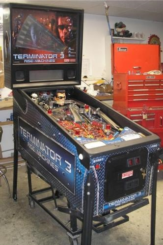 Free Shipping Sites >> TERMINATOR 3 RISE OF THE MACHINES Pinball Machine Game for sale by STERN - ARNOLD SCHWARZENEGGER ...