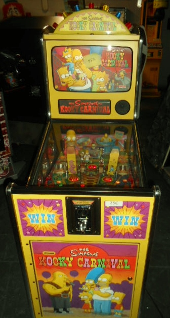 THE SIMPSONS KOOKY CARNIVAL Redemption Arcade Machine Game