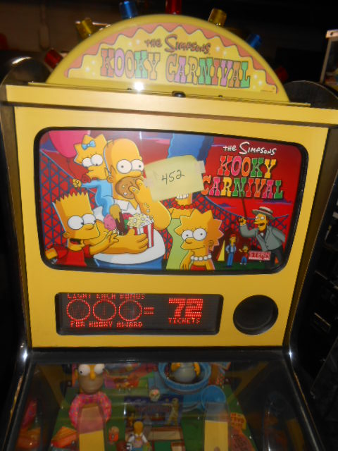 The Simpsons Kooky Carnival Redemption Arcade Machine Game For Sale By Stern