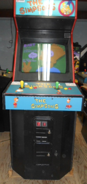 THE SIMPSONS Upright Video Arcade Machine Game for sale by