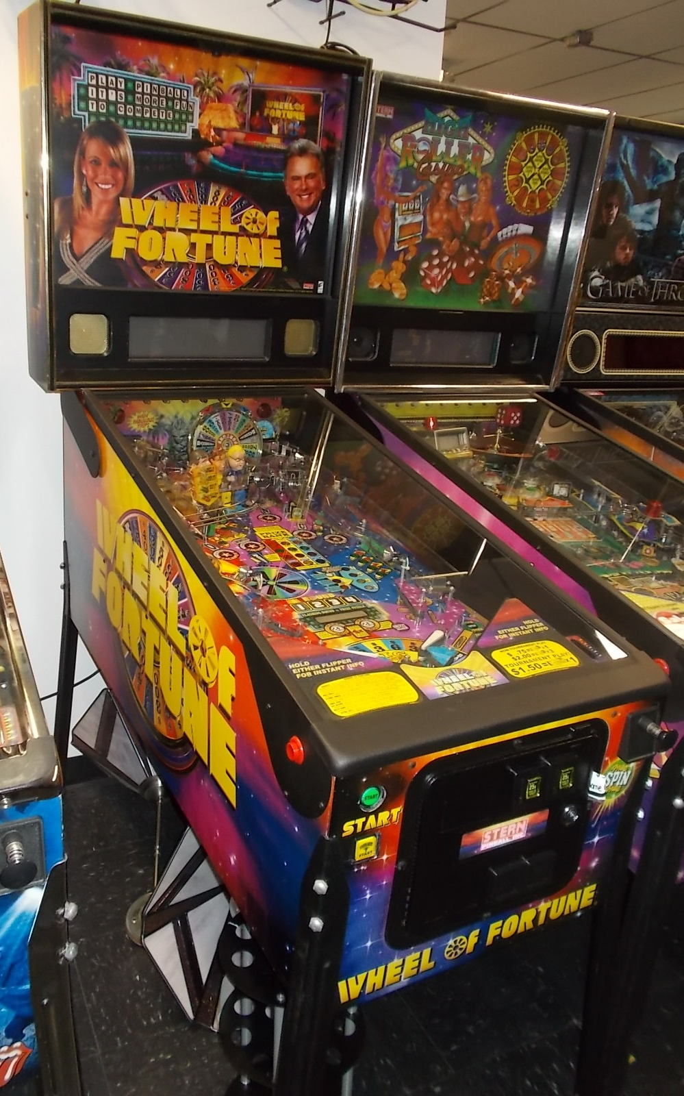 Free Shipping Sites >> WHEEL OF FORTUNE Pinball Machine Game by Stern - VANNA ...