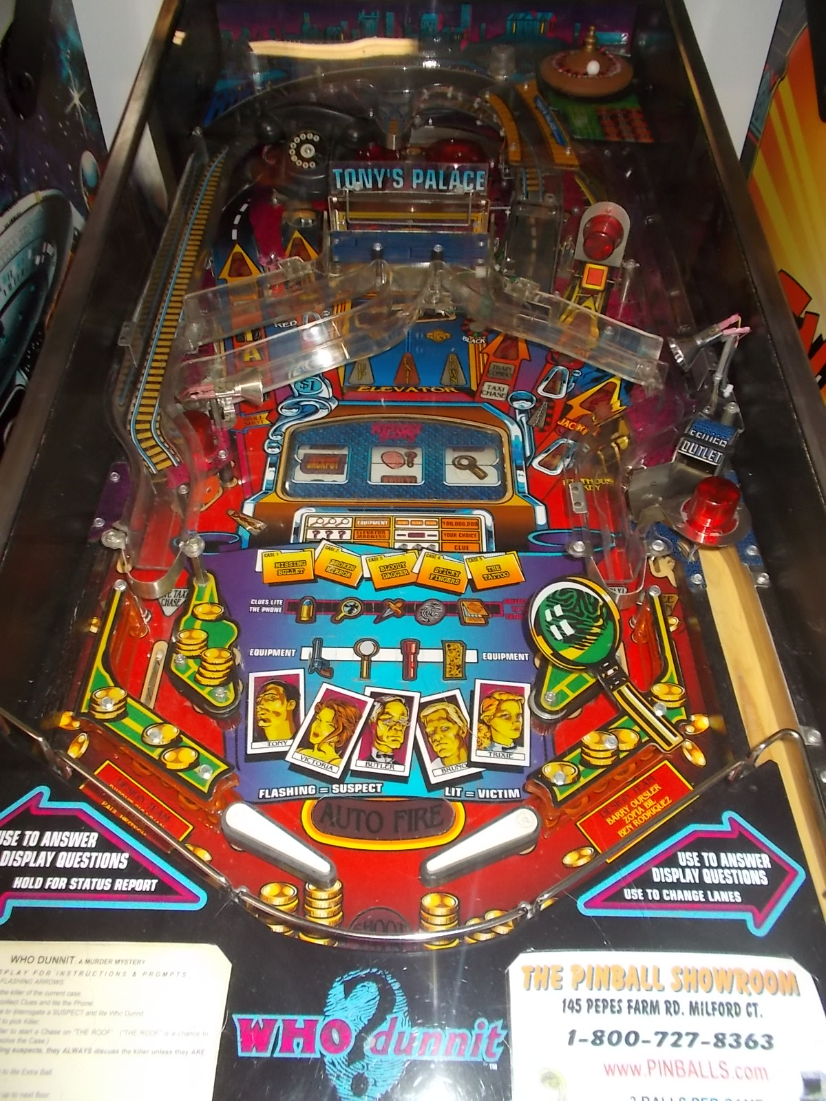 WHO DUNNIT Pinball Machine Game by BALLY MURDER MYSTERY CASINO