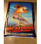 2012 Northwest Pinball & Arcade Show Advertising Promotional Poster 36 x 24 NOS minor defects #58