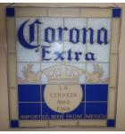 "Corona Extra ""Imported Beer From Mexico"" stained glass wall art decor for sale"