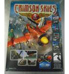Crimson Skies Video Arcade Machine Game Advertising Promotional Poster #883 for sale - Tsumo - NOS