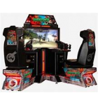 "GLOBAL VR PARADISE LOST DOUBLE UZI 50"" Flat Screen Sit-down Arcade Machine Game for sale"