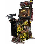 """GLOBAL VR THE SWARM 3D/2D 32"""" VIDEO ARCADE SHOOTING GAME"""