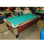 GREAT AMERICAN 7' Pool Table #16 - NEW BALLS, 4 STICKS, TRIANGLE