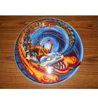 Hurricane Pinball Machine Game Screened Art Spinning Disc Backbox Artwork Translite Williams NOS #34