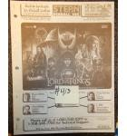 LORD OF THE RINGS Pinball Machine Game Owner's Manual #413 for sale