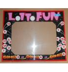 LOTTO FUN Arcade Machine Game PLEXIGLASS Marquee Bezel Artwork Graphic #1178 for sale