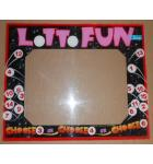 LOTTO FUN Arcade Machine Game PLEXIGLASS Marquee Bezel Artwork Graphic #1179 for sale