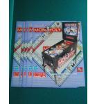 MONOPOLY Pinball Machine Game Original Sales Promotional Flyer