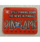 PIN GAME Original Pinball Machine Promotional Key Fob Keychain Plastic for sale