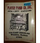 PLAYER PIANO CO., INC 1976 - 1977 CATALOG #1285 for sale