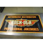 Rock-ola Authorized Distributor Plastic Advertising Sign with grommets 46.5 x 25 NOS #55