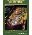 SPECIAL FORCE Pinball Machine Game for sale
