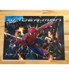 SPIDER-MAN Pinball Machine Game Translite Backbox Artwork for sale by Stern - signed by GARY STERN