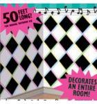 "Sock Hop ""ROCK & ROLL"" Room Roll Party Wall Decoration, Vinyl, 4' x 40'"