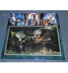 The Hobbit Smaug Gold SE Original Pinball Machine Game Translite Quality Promotional Glossy Photo signed by Jersey Jack for sale .