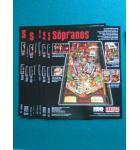 THE SOPRANOS Pinball Machine Game Original Sales Promotional Flyer