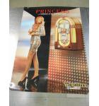 Wurlitzer Princess Jukebox Original Advertising Promotional Poster 33 x 24 USED minor defects #61