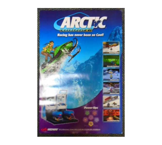 ARCTIC THUNDER Video Arcade Machine Game Advertising Promotional Poster for sale by MIDWAY