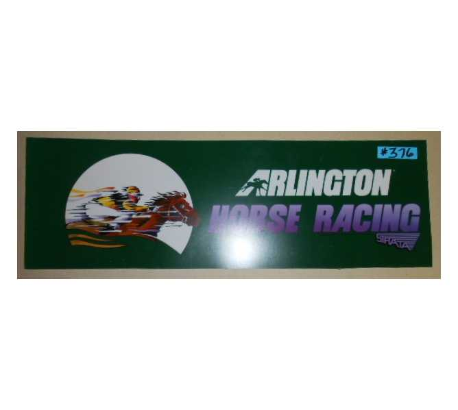 ARLINGTON HORSE RACING Arcade Machine Game FLEXIBLE Overhead Marquee Header #376 for sale