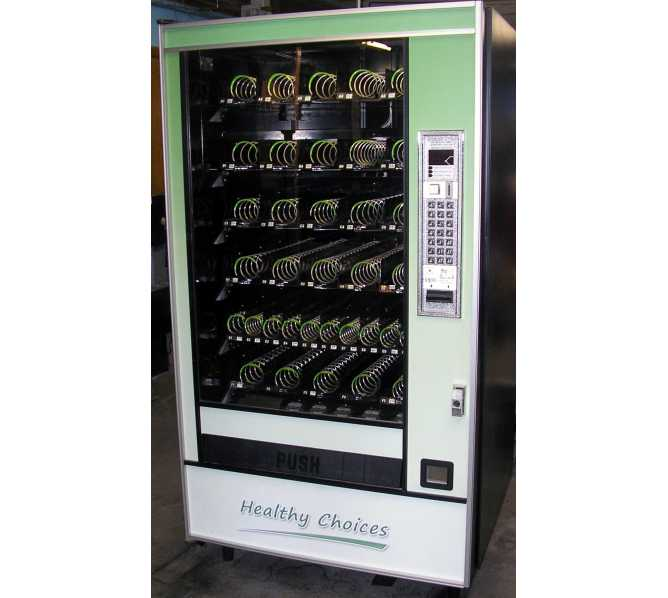 Automated Products AP API Series 7000 Model 7635 HEALTHY CHOICES Snack Glass Front Vending Machine for sale