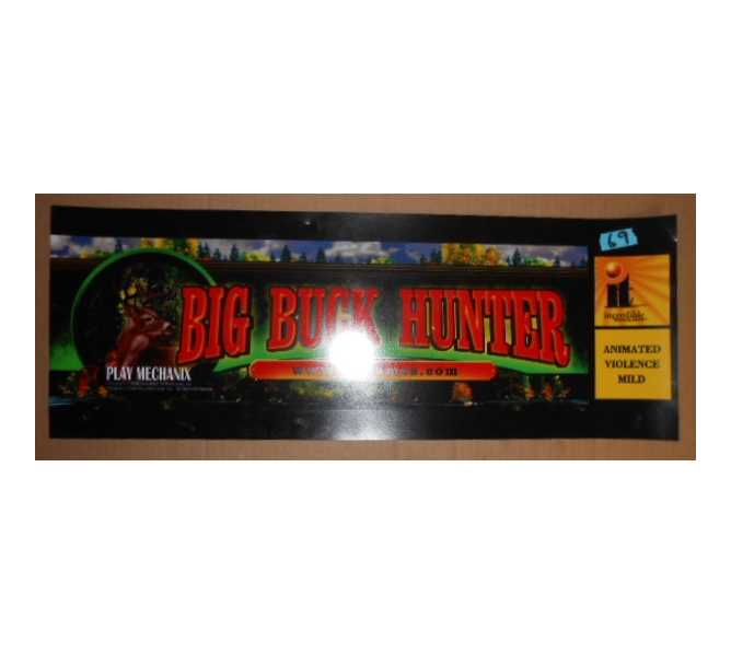 BIG BUCK HUNTER Arcade Machine Game FLEXIBLE Overhead Marquee Header #69 for sale